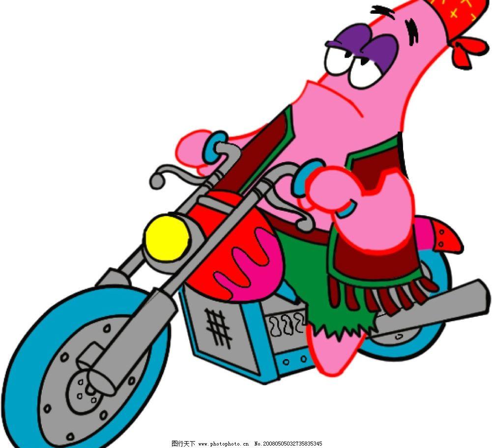 海绵宝宝系列 海绵宝宝 骑摩托车 帅仔 可爱 卡通 彩色 印花 衣服图案