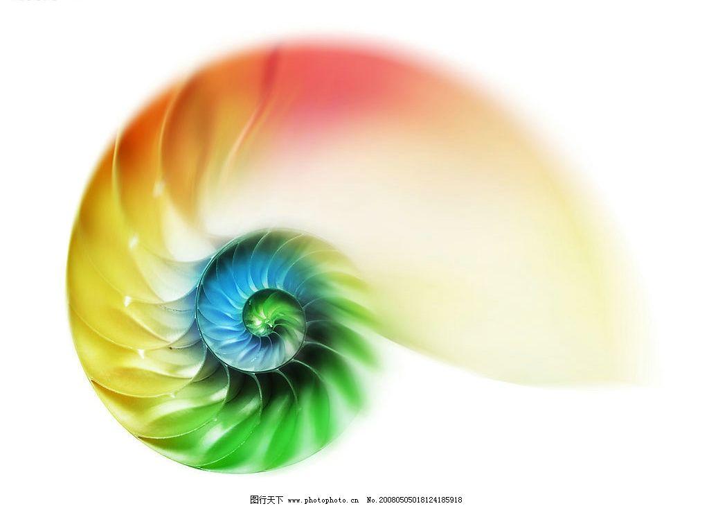 绚彩的海螺 海螺 彩色 绚丽 绚彩 螺旋 无极限 生物世界 其他 设计