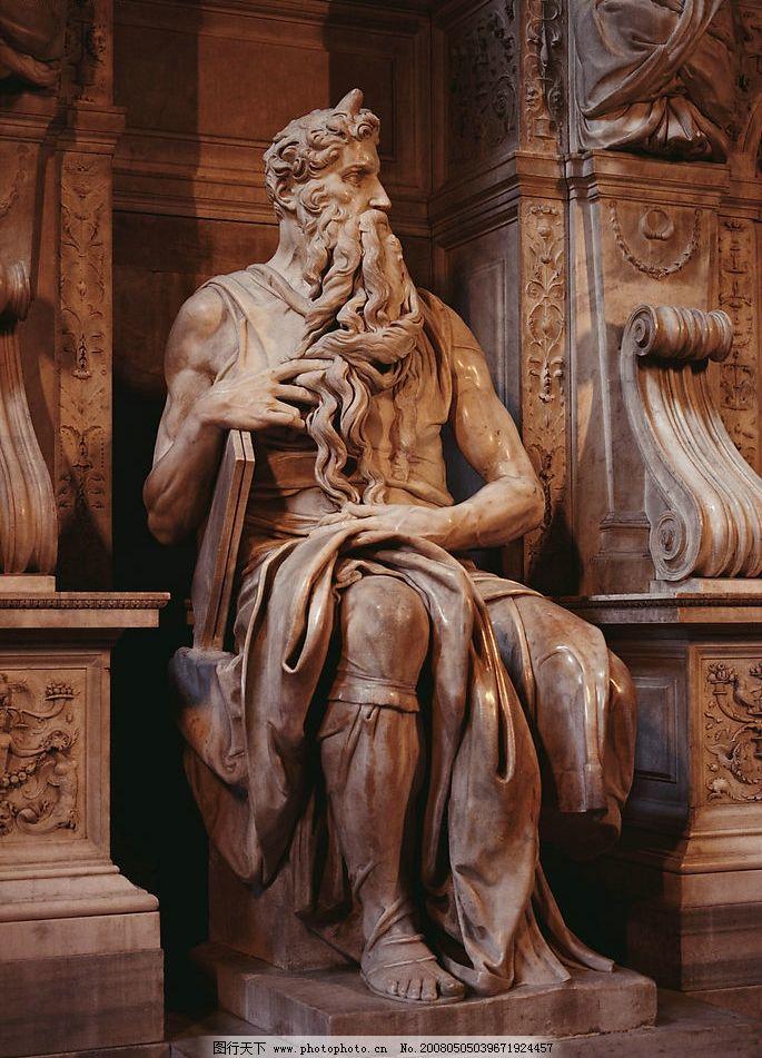 米开朗基罗作品----摩西 (坐像)图片