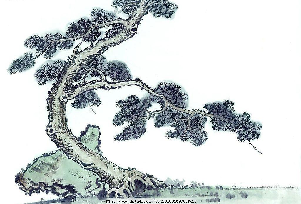 古树奇石 古树 墨画 文化艺术 绘画书法 中国水墨画 设计图库 72 jpg