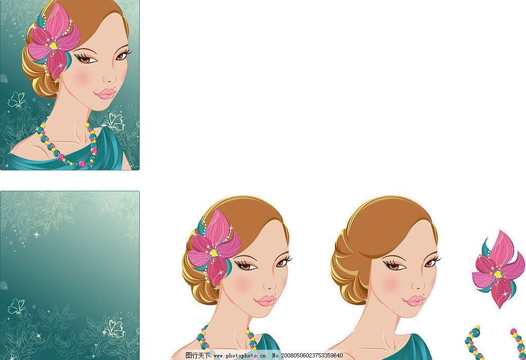 古典美女 雍容华贵 典雅大方 古典装束 怀旧头饰 高贵妇人 丝质服饰