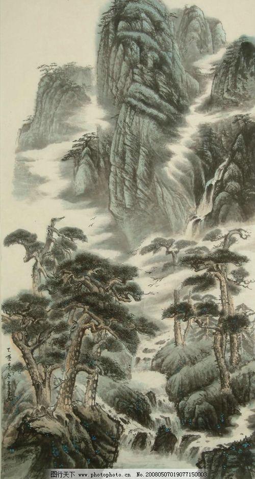 山水画 传统文化 中国画 书画 文化艺术 绘画书法 设计图库 72 jpg