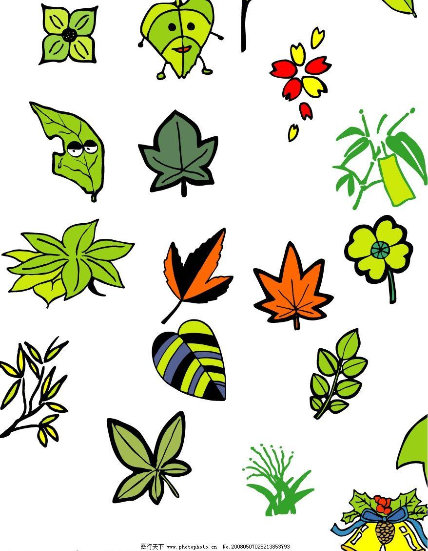 叶子 生物世界 树木树叶 矢量图库   cdr