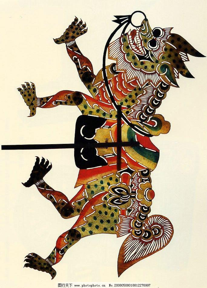 皮影 麒麟 中国 传统 动物 文化艺术 传统文化 设计图库 600 jpg