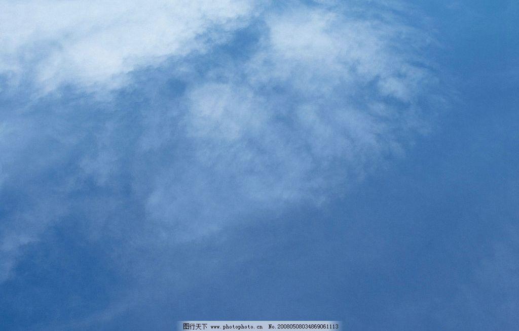 云朵 天空 蓝天 白云 深蓝 自然景观 自然风景 天空与太阳 摄影图库
