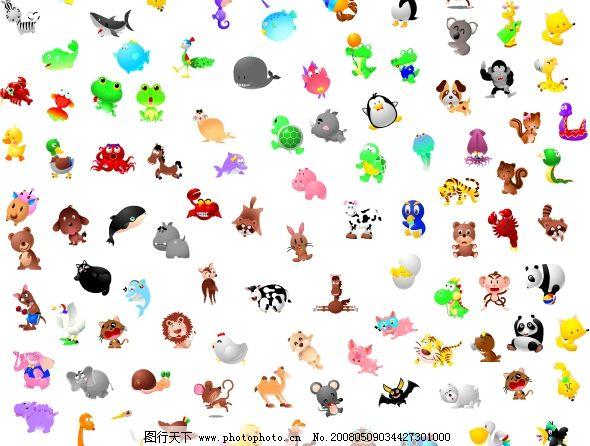 小动物集合图片