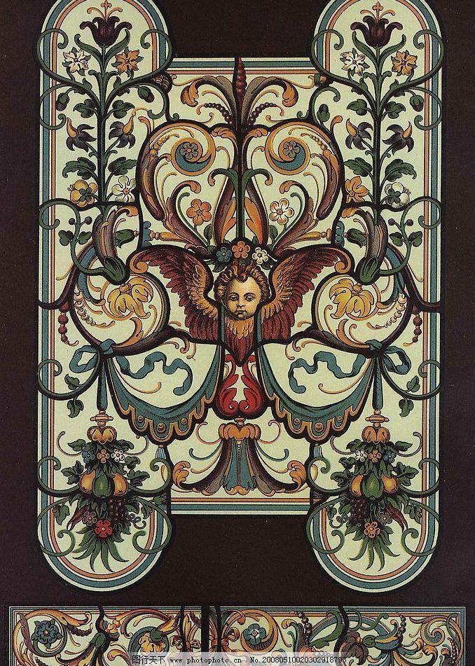 外国纹样 古典纹样 浮雕图案 古典壁画 装饰图案 底纹边框 花边花纹