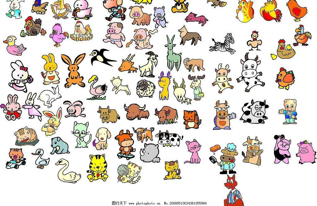 动物矢量图 各种小动物矢量图 其他矢量 矢量素材 矢量图库   cdr