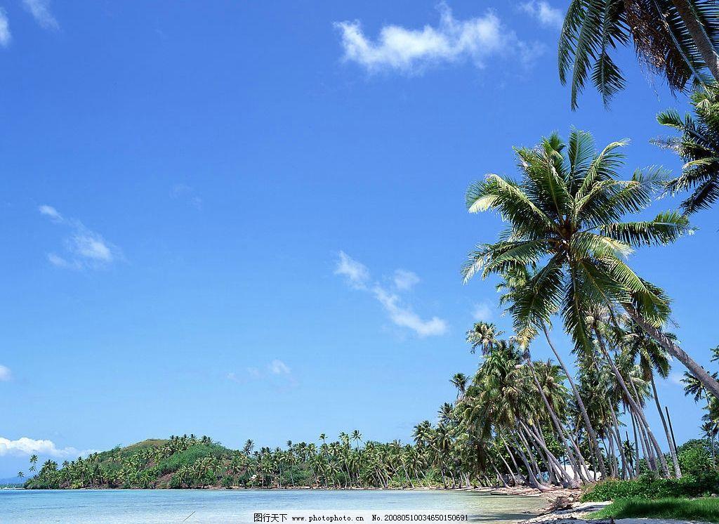 海南风景 椰子树 海水 自然景观 风景名胜 海阔天空 摄影图库 350 jpg