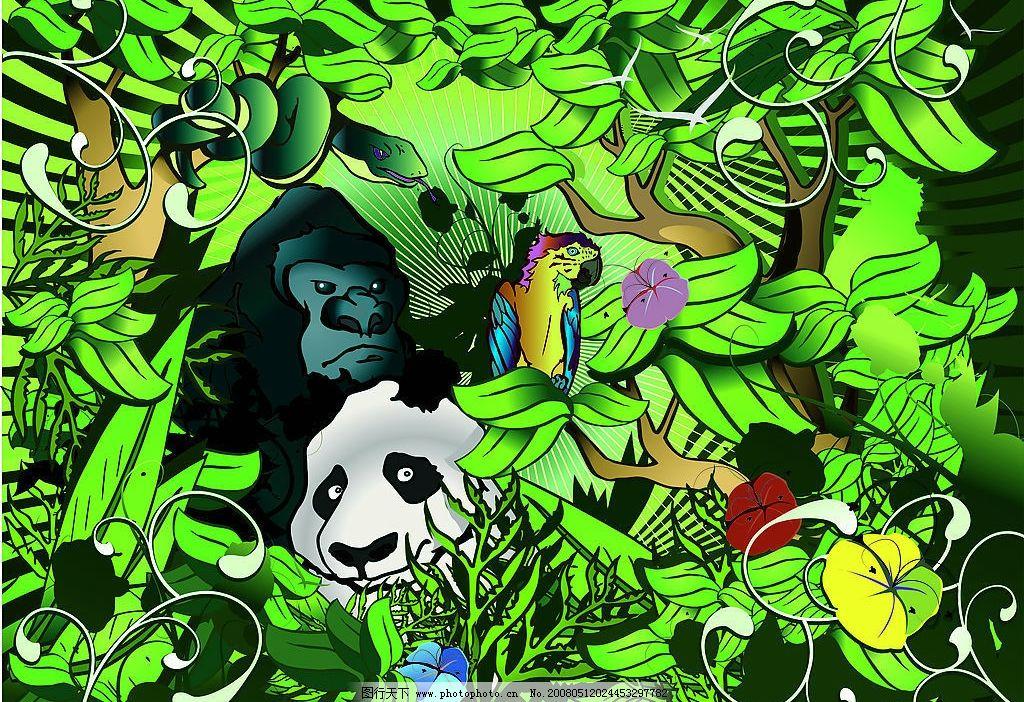 森林里的动物图片