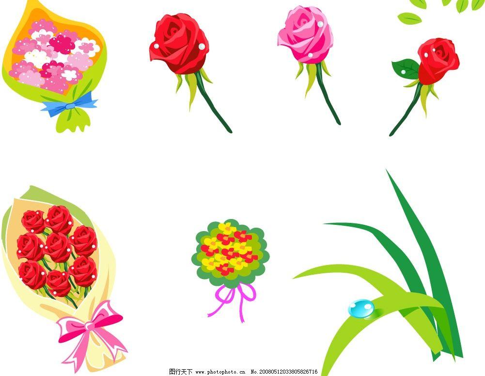 玫瑰花 其他矢量 矢量素材 各类精美矢量图标锦集 矢量图库   ai