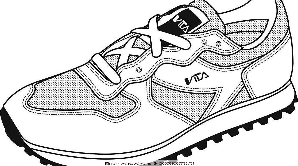 运动鞋 鞋子 旅游鞋 其他矢量 矢量素材 矢量图库   cdr