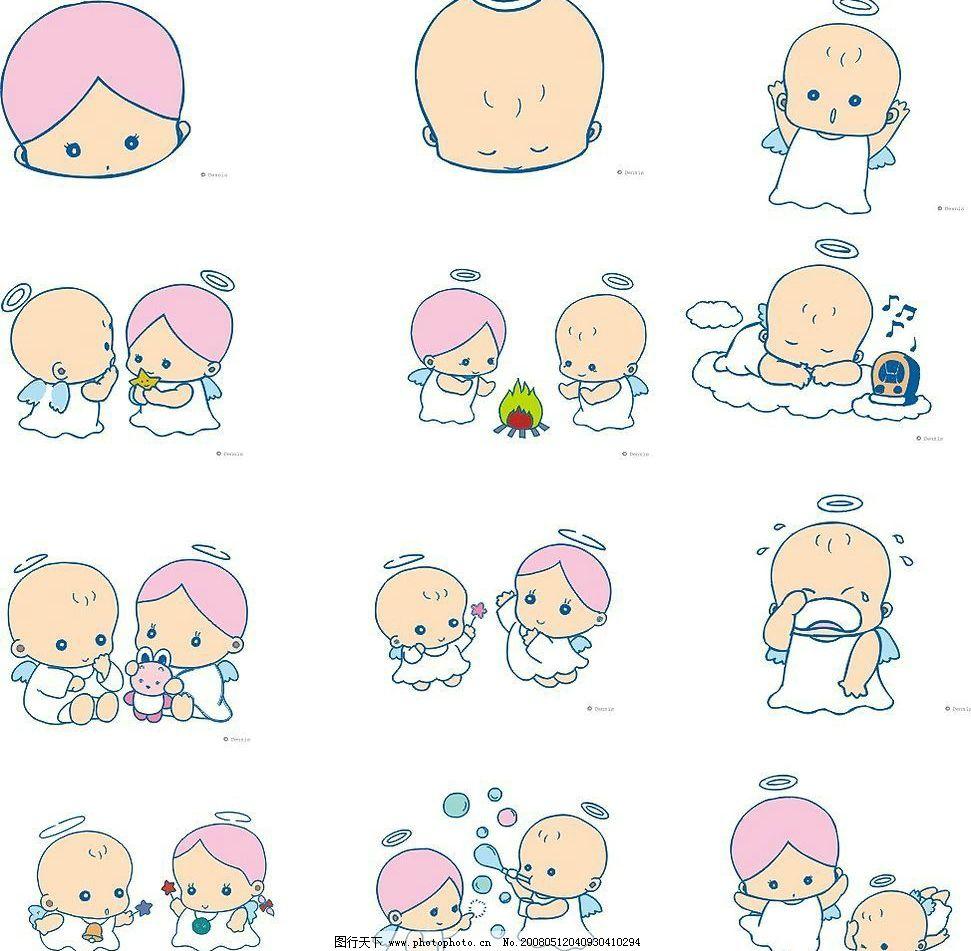 128个可爱小天使图 一个包包图片