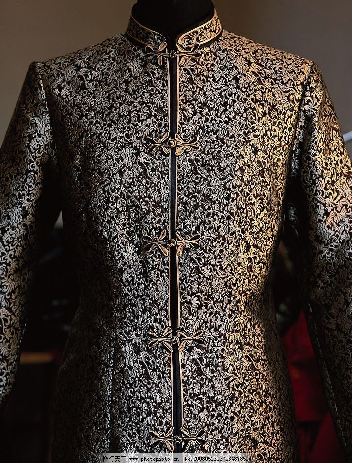 古装旗袍 花纹 布纹 生活素材 摄影图库