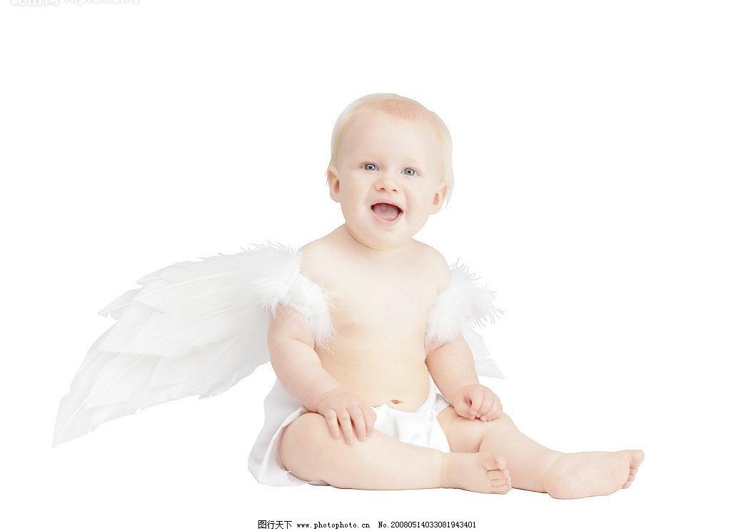 小天使 宝宝 翅膀 儿童幼儿 人物图库 摄影图库 外国小孩 小孩