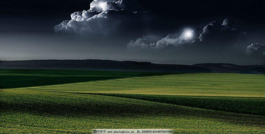 夜晚梦幻的静谧的风景图片