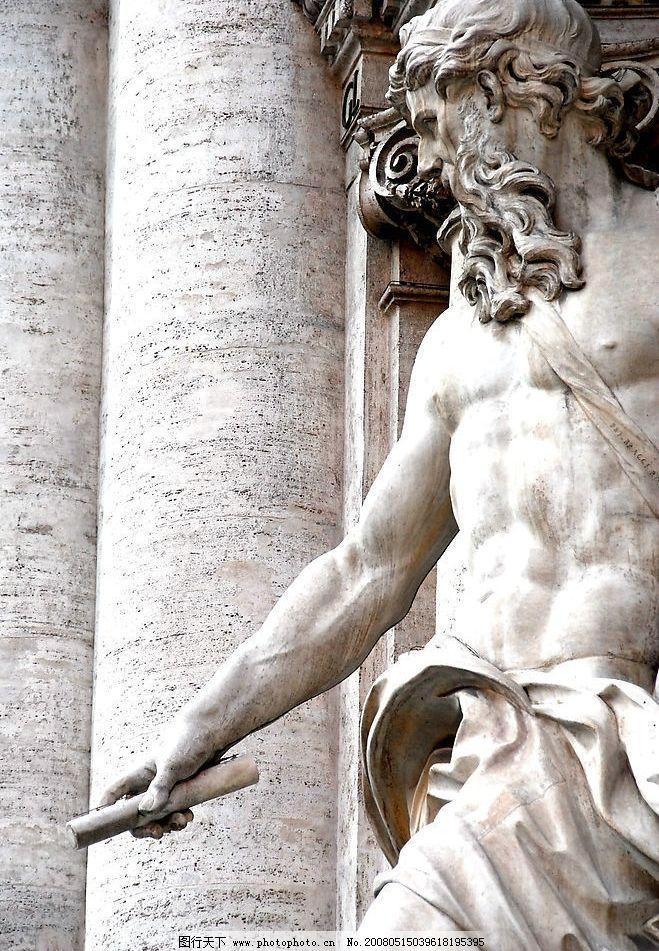 欧洲人物雕塑图片