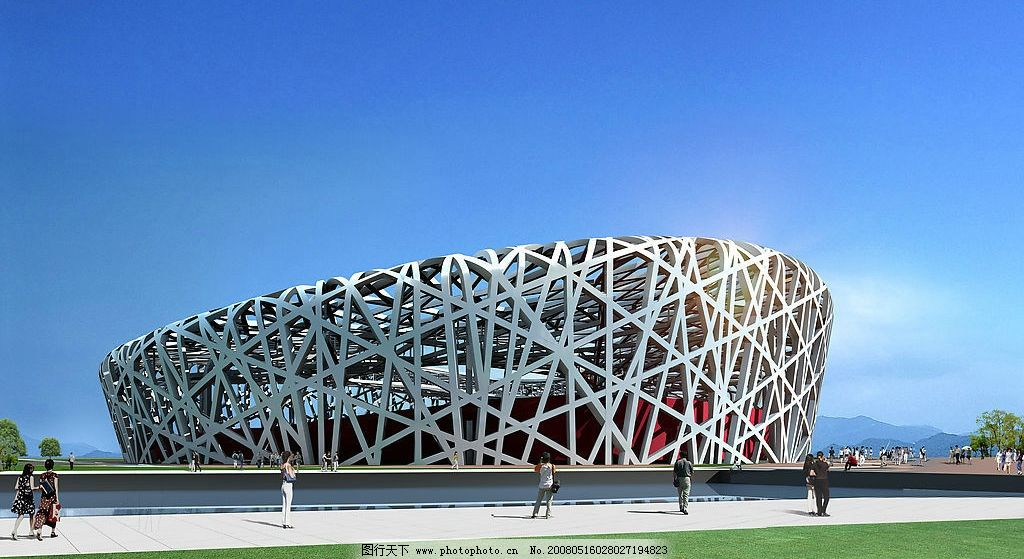 北京鸟巢 2008奥运 鸟巢 北京建筑物 环境设计 建筑设计 设计图库 72