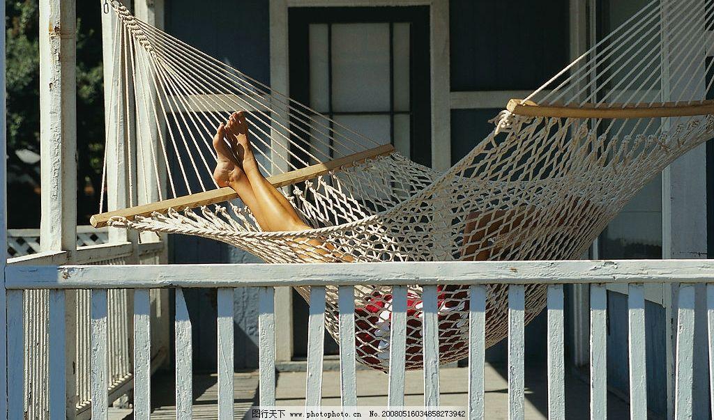 阳台的太阳 阳台 太阳 吊床 脚 舒适 阳光 自然景观 自然风景 美丽