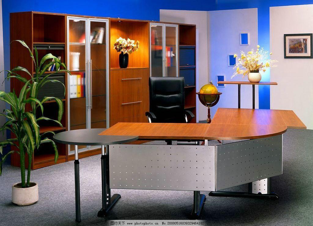 室内摄影 植物 台灯 办公桌 地球仪 花 壁橱 画 建筑园林 摄影图库 72