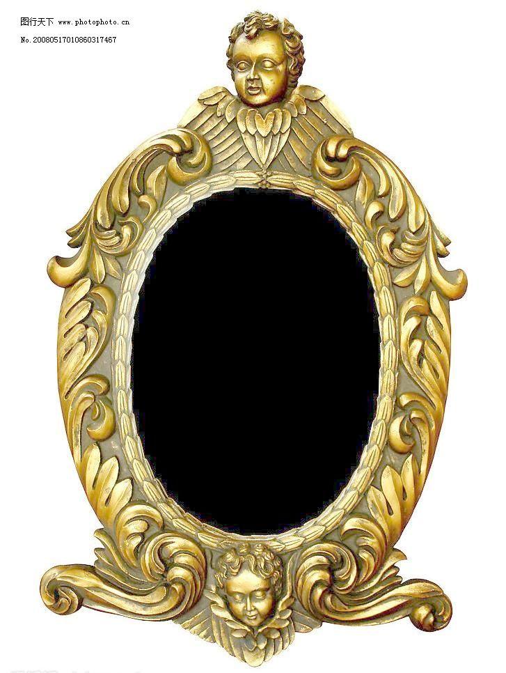 欧式金色华丽画框素材图片