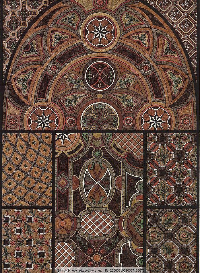 外国古典纹样 外国纹样 古典纹样 浮雕图案 古典壁画 装饰图案 底纹