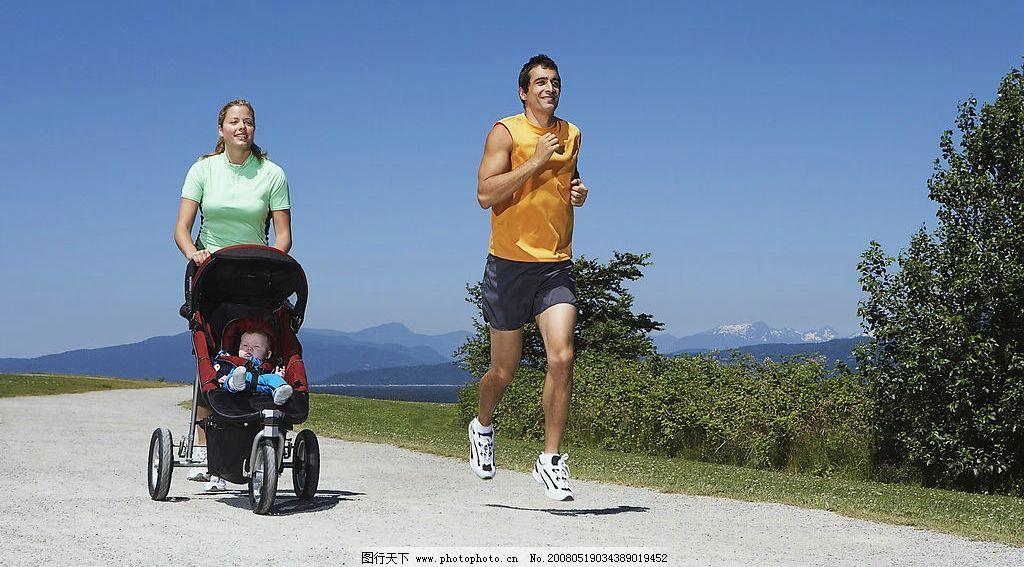 户外摄影图 其他人物 人物图库 摄影图库: 户外运动图片,家庭 锻炼 早晨 晨跑 坚持 自然 清新-图行天下图库