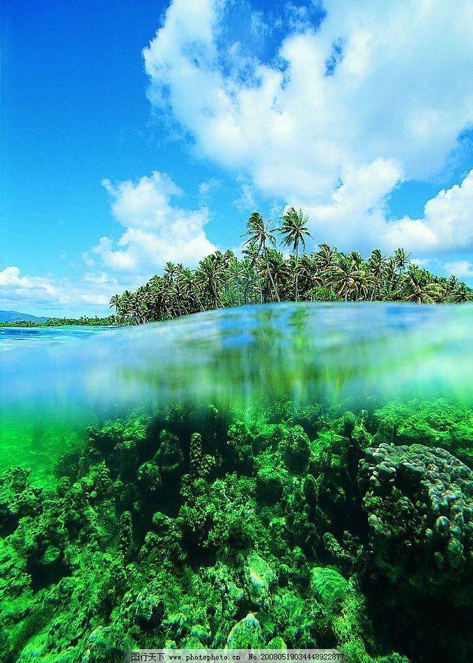 海南风光 蓝天 海水 绿叶 自然景观 山水风景 海南美景 摄影图库 72