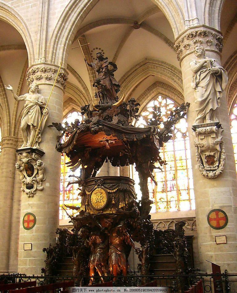 欧式雕塑 欧洲 教堂 雕塑 古典 肃穆 建筑园林 建筑摄影 摄影图库 200