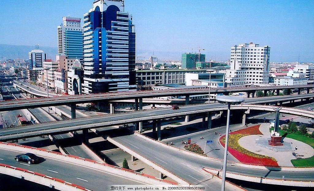 呼和浩特鸟瞰图 呼和浩特 内蒙古 风景 立交桥 城市风光 青城 鸟瞰图