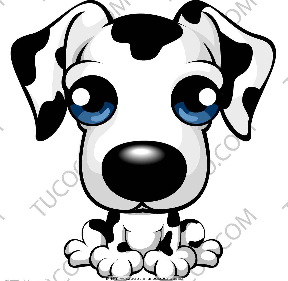 可爱卡通狗 可爱 卡通
