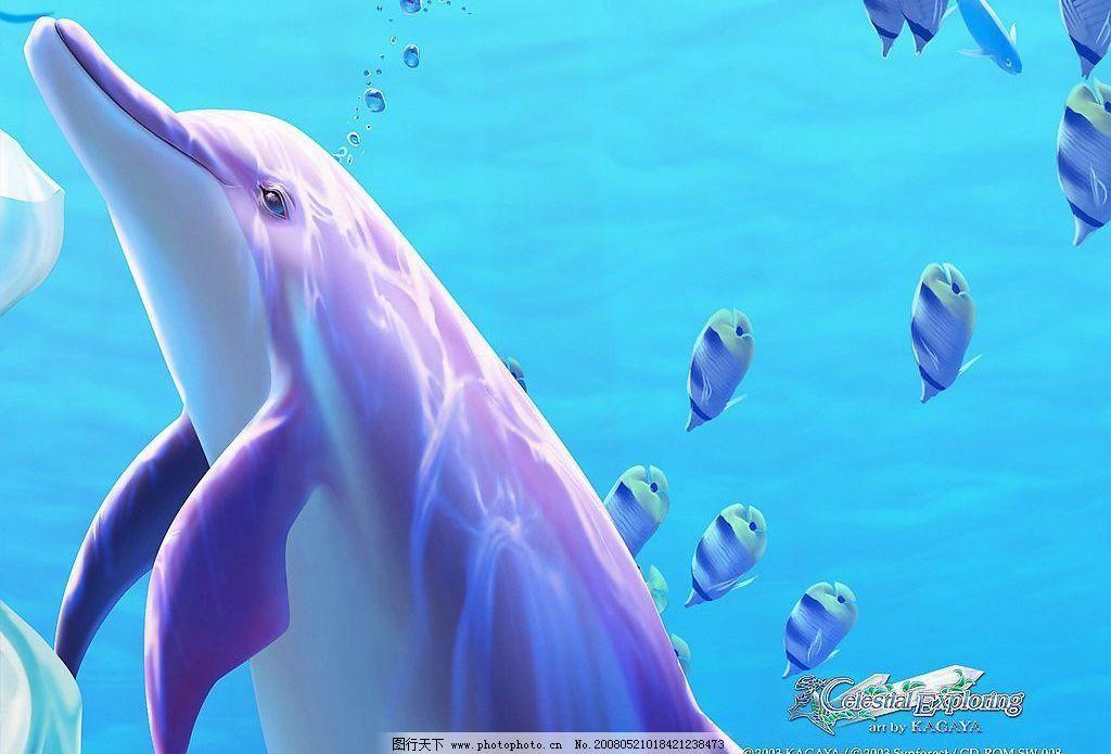 梦幻唯美图 梦幻 唯美 海水 海豚 鱼群 动漫动画 风景漫画 梦幻唯美