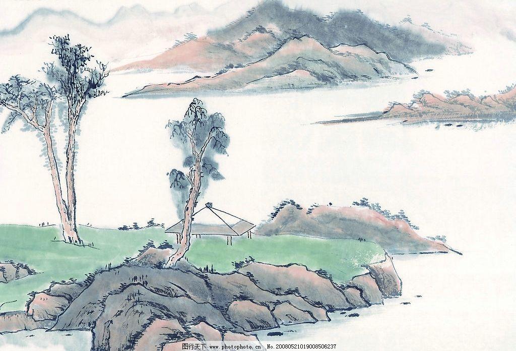 山水水墨画 设计素材 文化艺术 绘画书法 设计图库 72 jpg