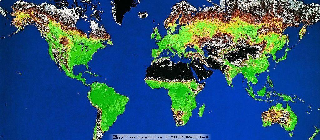 地球平面图图片