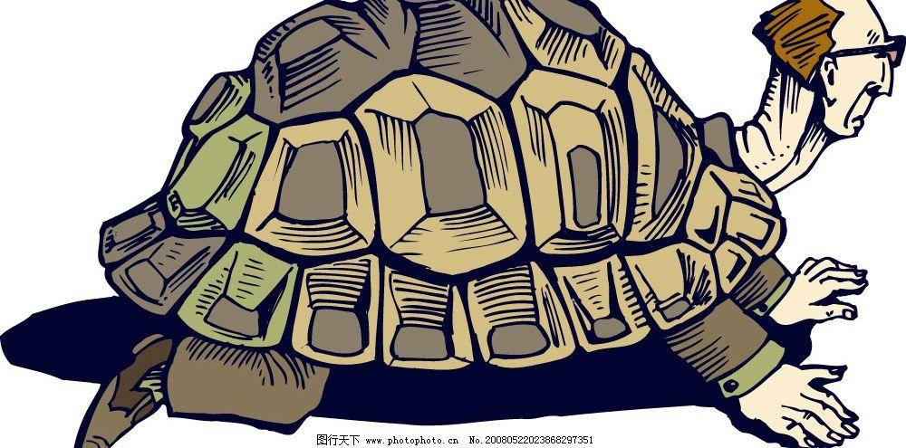 背着龟壳的人 龟壳 男人 矢量人物 男人男性 矢量图库   ai