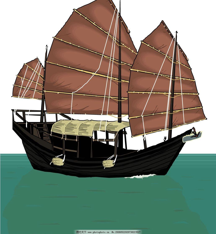 俯视帆船 ps素材