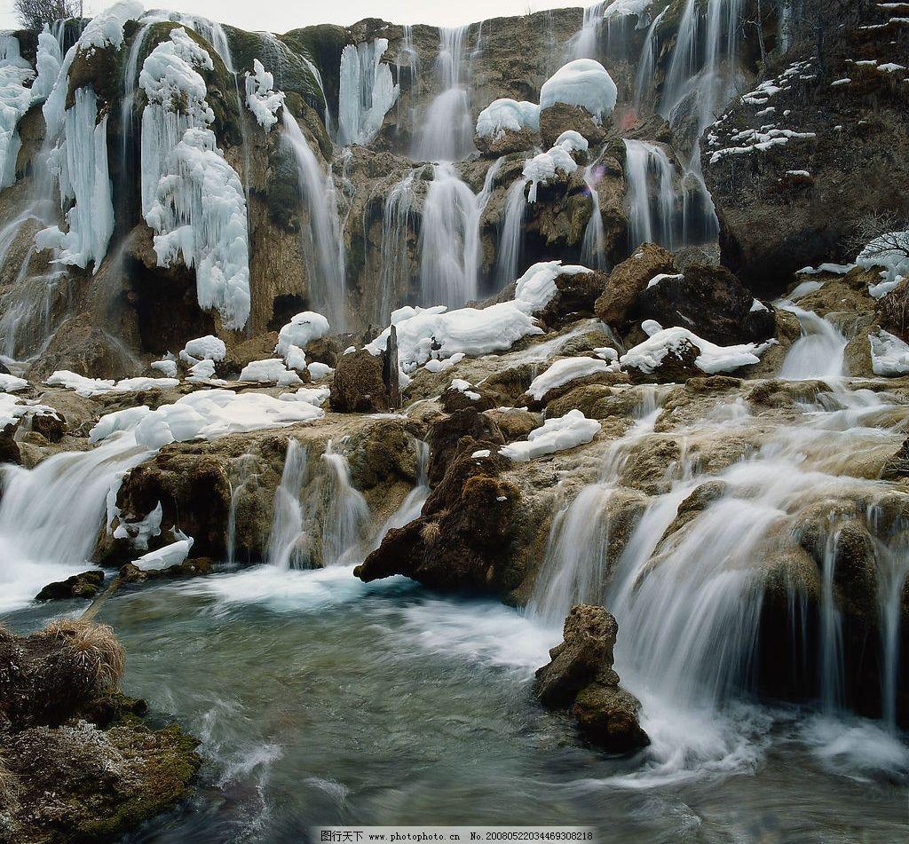 融水成瀑布 青山绿水 风光 风景 山水风光 溪流 瀑布 山涧 自然景观