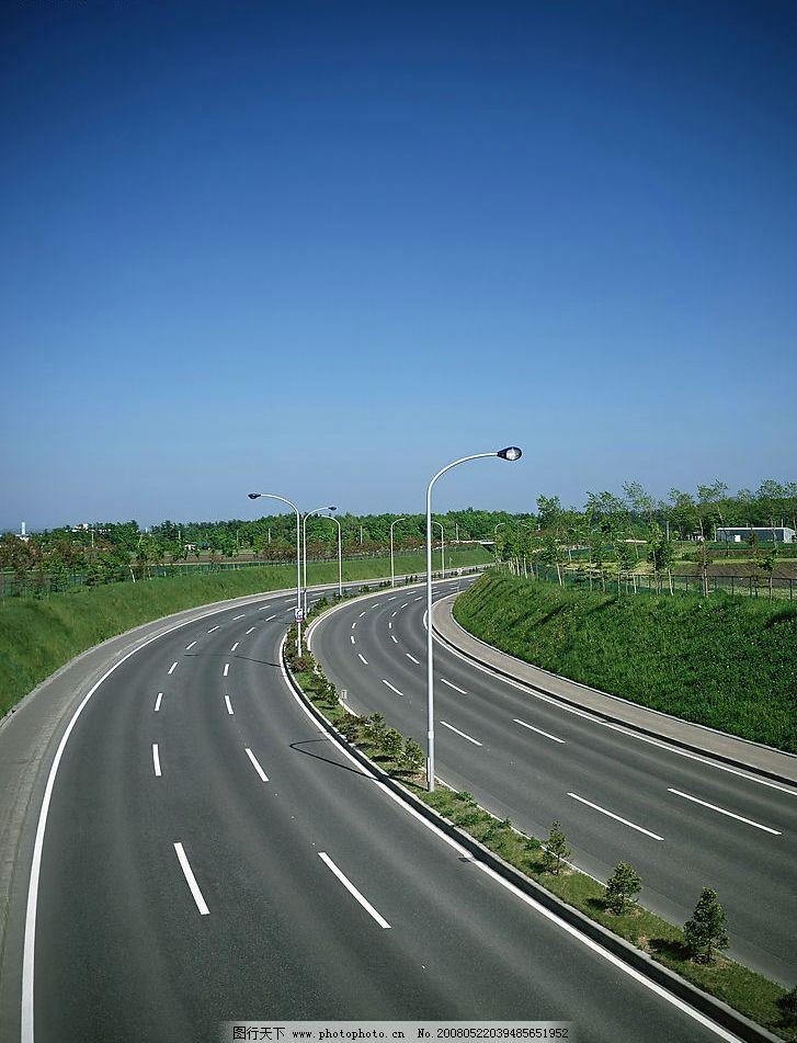 公路素材 道路 城市素材 清晰 摄影 漂亮 城市道路 树木 风景