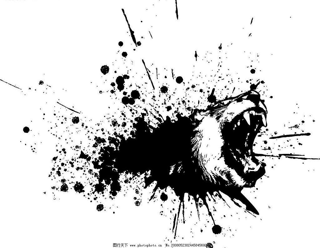 凶猛熊矢量素材图片_野生动物
