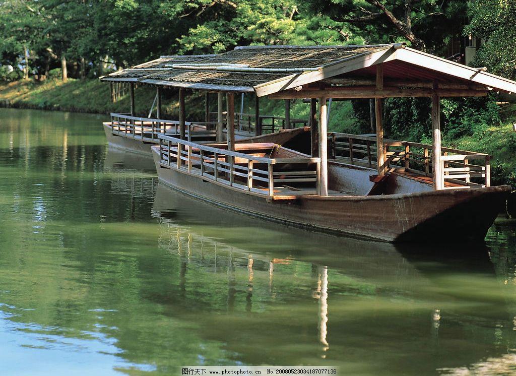 山清水秀高清晰图图片,船 自然景观 山水风景 摄影-图