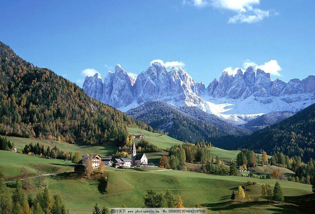 雪山风光 雪山 风景 自然景观 自然风景 摄影图库 72 jpg