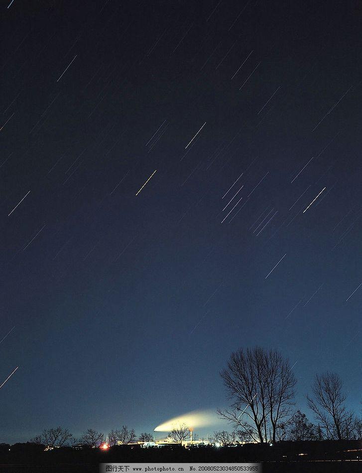 夜空流星 夜空 星空 流星 夜晚 天空 自然景观 自然风景 摄影图库 350