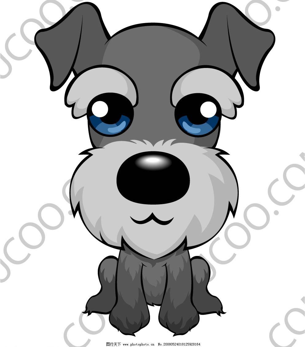 卡通狗 卡通 可爱 小狗 生物世界 其他生物 矢量图库   ai