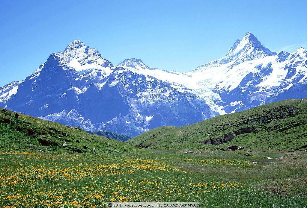 雪山风光 雪山 风景 自然景观 自然风景 摄影图库 350 jpg