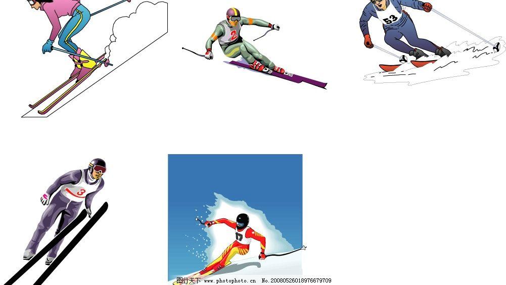 滑冰 运动 体育 健身 雪 冬季奥林匹克运动会 文化艺术 体育运动 矢量