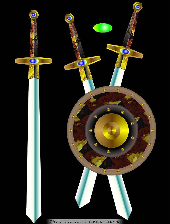 为小说封面画的剑跟盾 剑 盾 武器 其他矢量 矢量素材 矢量图库   cdr