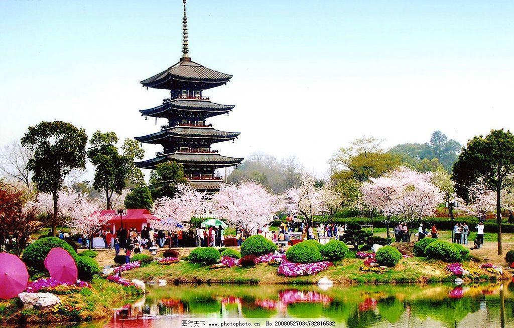 东湖风景 建筑景观 武汉风情 摄影图库