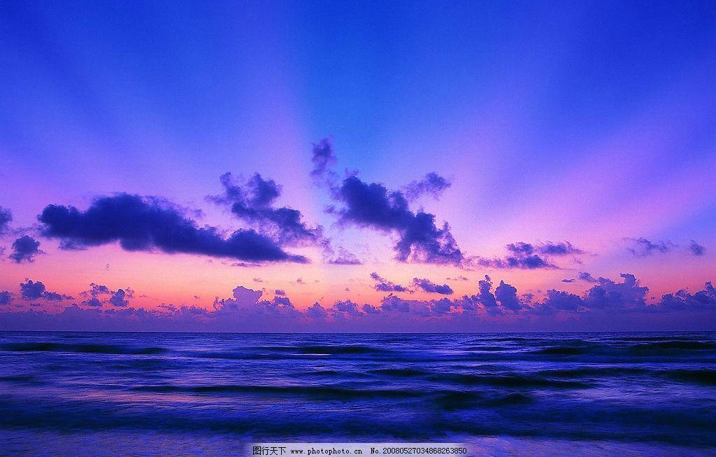 天空 晚霞 大海 美丽 自然 云 壮阔 自然景观 自然风景 摄影图库 72