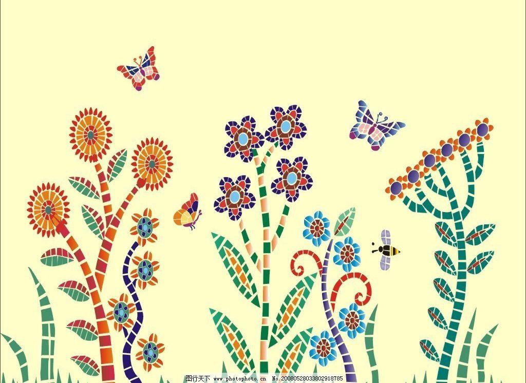 韩国墙纸背景图片,花纹 蝴蝶 抽象 其他矢量 矢量素材