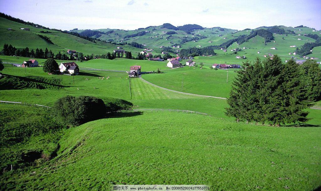 风景,绿地图片,风景绿地 庄园 草地 旅游摄影 摄影-图